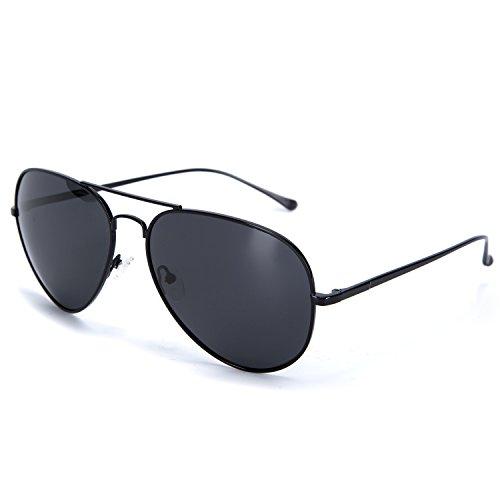 YJMILL 2017 New Polarized Sunglasses Retro Pilots Riding Fishing Golf Travel Sunglasses Men 0863 (black, - Most Popular Eyeglass Frames 2017