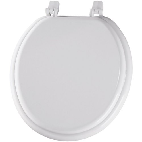 Bemis Wood Bowl (Bemis 400TTA000 Economy Molded Wood Round Toilet Seat, White)
