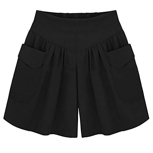 Donna Donna Nero Pantaloncini Loose Qiulan Pantaloncini Nero Qiulan Loose 0F6Uzxcqw
