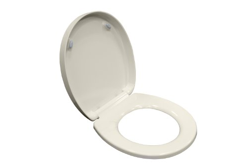 21.110.222 Boulevard Luxury Round Front Toilet Seat, Linen (Round Front Water Closet)