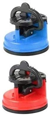 EUROXANTY®- Afilador Cuchillos Manual con Ventosa Ligero Azul y Rojo (Pack de 2)