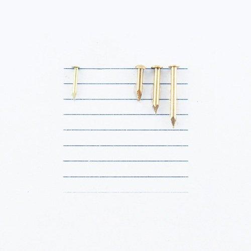 K381 - 3/8'' #18 Solid Brass Escutcheon Pins
