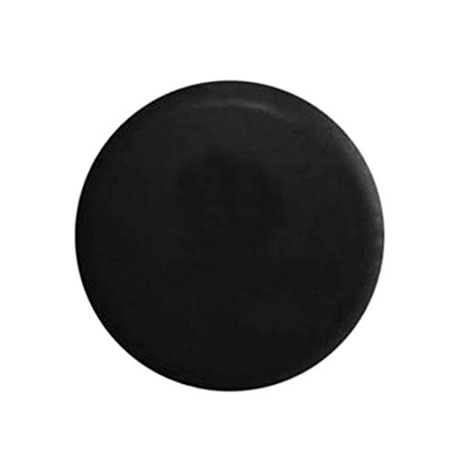 (Homolo PVC Imitation Leather Universal Fit Spare Tire Cover, Black, 15 inch)