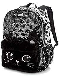 Justice Black Cat Flip Sequin Backpack]()