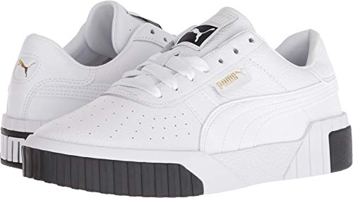 PUMA Women's CALI Sneaker White Black, 9 M US