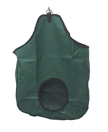AJ Tack Wholesale Horse Hay Feed Bag 600 Denier PV Coated Canvas Nylon Solid Panel Gusset Green