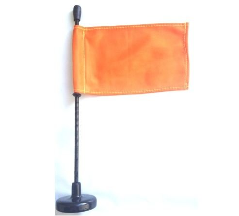 Company Safety Flag - Orange Car Flag with Magnetic Base and Flexible Flag Pole