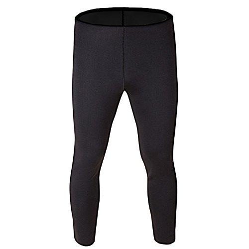 Kiwi-Rata New Ankle Long Thermo Pants Neoprene Sweat Sauna Suit Yoga Leggings for Women Ladies Weight Loss Burn Fat,Black(Inner/: Black),L (Waist/:28-30,Hip/:35-38)