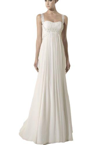 chiffon wedding dress with spaghetti straps