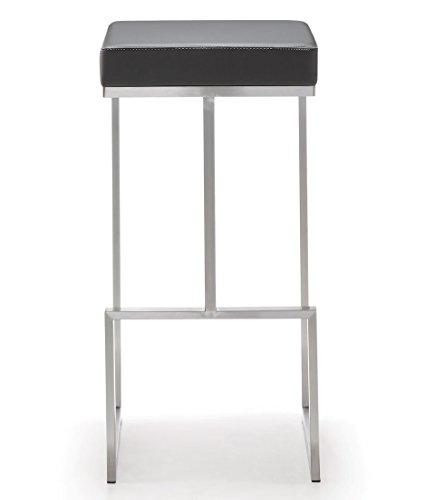 Tov Furniture Ferrara Stainless Steel Barstool Set of 2 , Grey