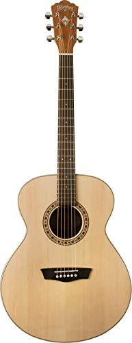Washburn 6 String Acoustic Guitar, Natural Gloss (WG7S-O) ()