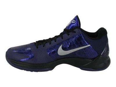 Nike Zoom Kobe V Mens Scarpe Da Basket Inchiostro / Argento Metallico-nero-ghiaccio