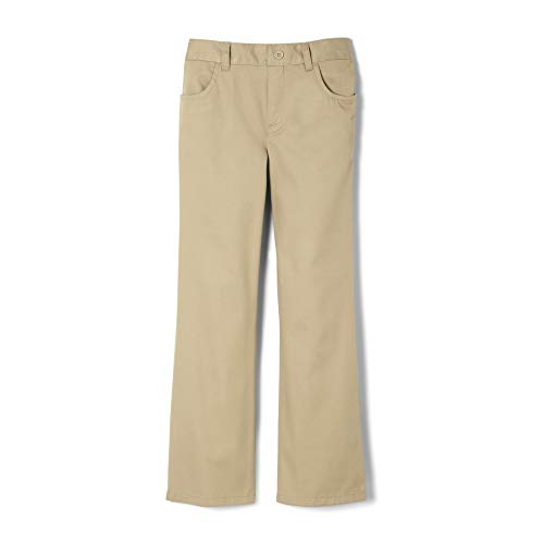 French Toast Girls' Big Twill Bootcut Pull-On Pant, Khaki, ()