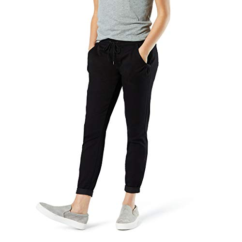 Signature by Levi Strauss & Co Women's Mid Rise Jogger, Noir, 4 Medium