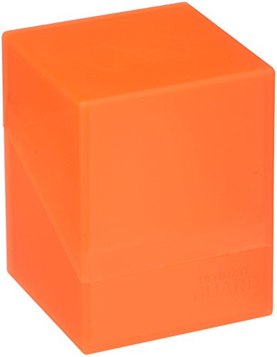 Ultimate Guard Deck Box Boulder Standard 100+ Poppy Topaz Orange Collectible Card Protection ()