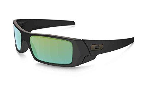 OAKLEY Gascan Sunglasses/Matte Black/Emerald Iridium Lens/26-245