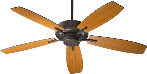 (Quorum International 64525-86 Soho 52-Inch Ceiling Fan, Oiled Bronze Finish with Reversible Walnut/Teak Blades)