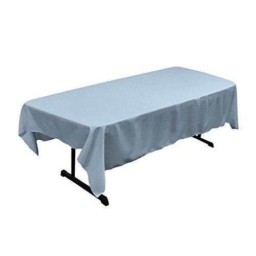 oplin Rectangular Tablecloth, Light Blue, 60