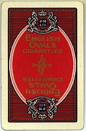English Ovals Cigarettes Playing Cards - Red Oval Pinochle Deck