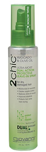 Moist Oil - GIOVANNI COSMETICS - 2chic Avocado and Olive Oil Ultra-Moist Dual Action Protective Leave in Spray, 4 Fluid Ounce