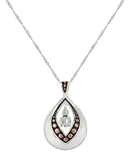 Montana Silversmiths Two Toned Flowering Bud Necklace