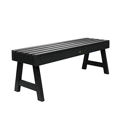 Highwood AD-BENN4-BKE Weatherly Backless Bench, 4-Feet, Black ()