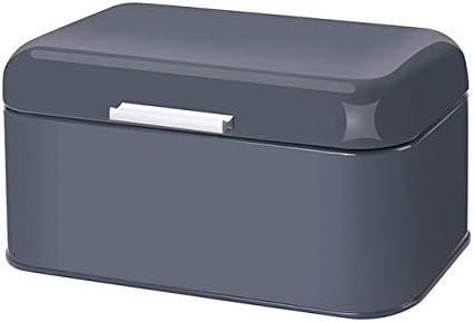 Pan Caja con Tapa de bambú Tabla de Cortar de Almacenamiento Caja de Metal galvanizado Panera de manijas Snack-Box Cocina Contenedores casa Deco (Color : Gray): Amazon.es: Hogar