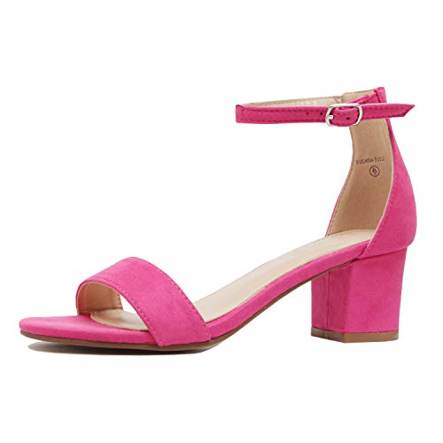 - Guilty Shoes - Jean 08 Fuchsia Suede, 6