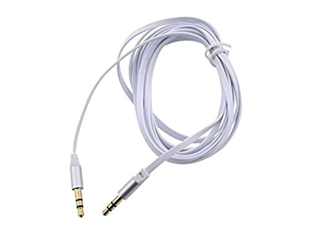 Amazon Com Rosewill Rac 6wh 6 Ft 3 5mm Flat Audio Cable White