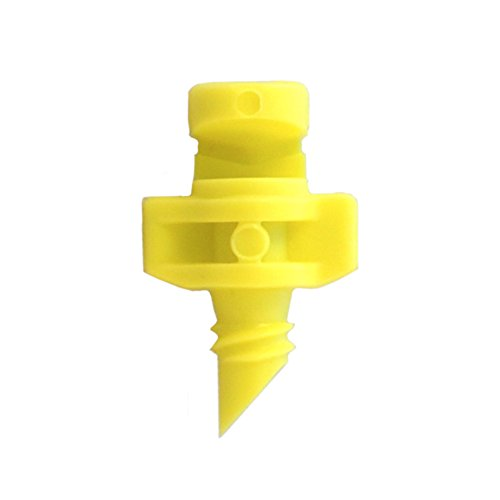 120 Pack YELLOW xGarden 180 Degree Micro Sprayer Fan Jet - For Hydroponic and Aeroponic Misters and Cloners