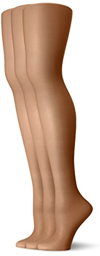 L'eggs Women's Energy 3 Pack All Sheer Panty Hose, Suntan, Q -