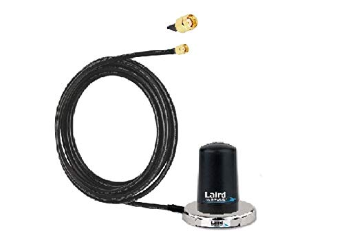 Mini Magnet Mount Cellular Antenna - Low Profile Cellular/Wi-Fi Mini-Magnet Mount Antenna, 12 ft Teflex Cable, SMA