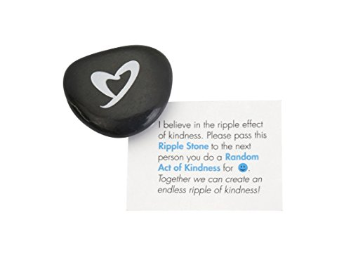 Ripple Stone - Multiply Your Random Acts of Kindness - Cards Included (1 Pack)