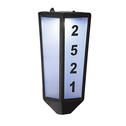 Collections Etc Solar Address Marker Outdoor Wall Mount - Highlights House Number for Easy Visibility ()