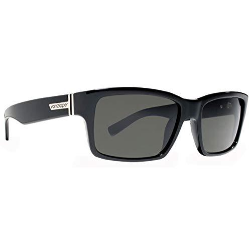 (Von Zipper Fulton Sunglasses-Black Gloss-Grey)