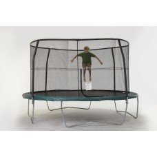 Net for 14ft Trampoline Enclosure using 4 Poles and Sleeves by Super Trampoline