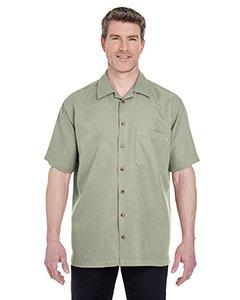 UltraClub Mens Cabana Breeze Camp Shirt (8980) -SAGE -2XL
