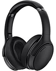 Active Noise Cancelling Headphones, Wireless 5.0 with Microphone, Deep Bass, Fast Charge, 35H Playtime, Over Ear, Wired and Wireless Headset, CVC 8.0 Mic for Adult, Home Office, Online Study, Travel
