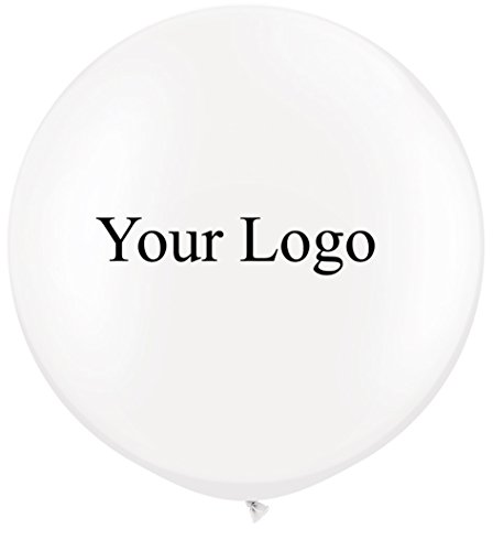 Custom Balloons Photo Print Party Balloons 200 Pack Birthday Wedding Shower Balloons (White) -