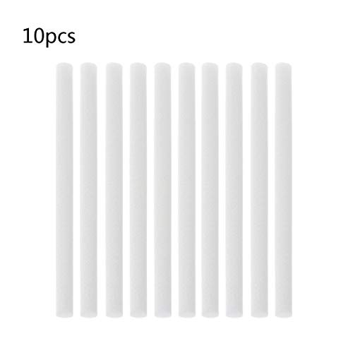 (Hukai 10Pcs 7mmx115mm Humidifiers Filters Cotton Swab For Humidifier Aroma Diffuser)