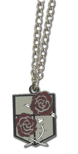 - Attack on Titan Garrison Stationary Guard Emblem Metal Necklace