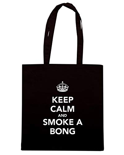 BONG Shirt AND Nera Shopper KEEP SMOKE CALM Borsa A TKC0586 Speed vfOaqdxv