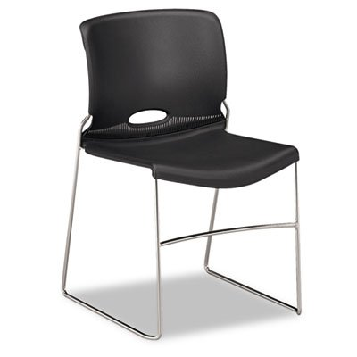 [HON Olson Stacking Chair - Guest Chair for Office, Cafeteria, Break Rooms, Training or Multi-Purpose Rooms, Lava Shell, 4 pack (HON4041SD)] (Prima Plastic Stacking Chairs)