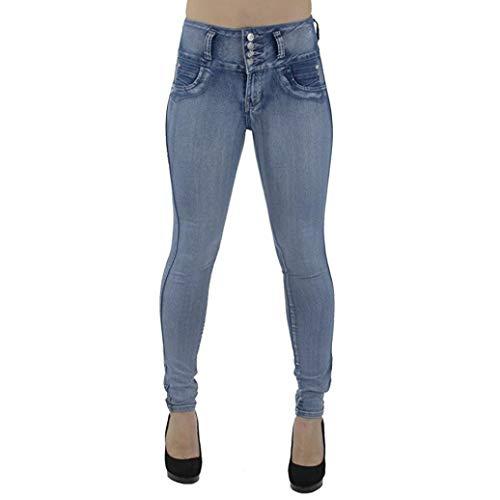 Holywin - Jeans - Jean - Uni - Femme Bleu Clair