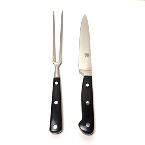 Chef G Quality Stainless Steel Carving Knife and Fork Set for Home, Restaurant, Outdoor Grilling by Chef G
