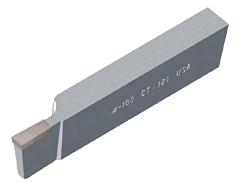 Micro 100 CT-121 Brazed Tool Square Shank Diameter''Style CT'', 5'' Length, 1'' Width, 1/2'' Height, 1''''D'' Dimension, 1/8'' Thick, 1/4'' Width, 3/4'' Length