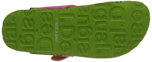 Desigual Bio 7 Energe, Sandalias con Tira a T para Niñas Verde (green 4004)