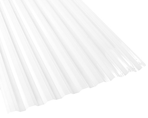 Suntuf 159856 Polycarbonate Roof Panel, 72'' L x 26'' W, White Opal, 10 Piece