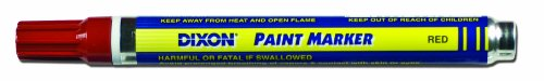 Dixon Paint Markers, Medium Tip, Box of 12 Markers, Red -