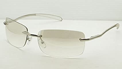1e0d1d4b91b93 Image Unavailable. Image not available for. Color  Gift Depot TM Frameless  Clear   Light Brown Tint Lenses Sun-Glasses Silver Gold Metal